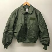 Nos Flyerand039s Cold Weather Cwu-45/p Jacket Size Large Us Army M-36