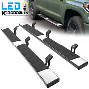 For 2007-2021 Toyota Tundra Crew Max 6 Running Boards Nerf Bar Side Steps S/s H