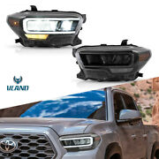 2pcs Front Led Reflector Headlights Lamps Assembly For Toyota Tacoma 2015-2020
