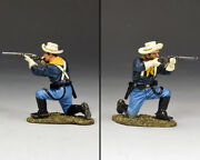 New King And Country Kneeling Trooper Firing Carbine Kx024 John Ford's Us Cavalry