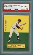 1964 Topps Stand Up Norm Cash Andndash Psa 8.5 Tigers Sp Pop 1 Only 2 Higher