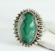 Lagos Venus Fluted Malachite Sterling Ring Size 7 19.5 Grams Free Shipping