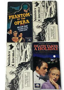 4 Vhs Lot Death Takes Holiday Phantom Of The Opera Jack The Ripper White Warrior