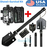 2 In 1 Folding Shovel Survival Gear Set Outdoor Military Tactical Edc Multi Tool