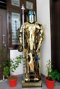Rust Free Stainless Steel Fully Wearable Medieval Armor Templar Knight Suit