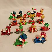 Mandm Christmas Train Collectable Toys 15pcs From Different Train Sets