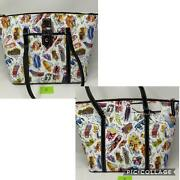 Disney Dooney And Bourke Ink And Paint Tote Purse Splash Mountain Brer Rabbit And