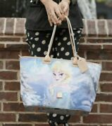 Disney Dooney And Bourke Frozen Anna And Elsa Reversible Tote Bag Purse