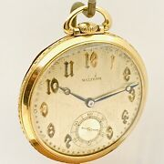 Stunning Solid 14k Gold 1927 Waltham Maximus Colonial A 10s 23j Pocket Watch