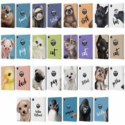 Official Animal Club International Faces Leather Book Wallet Case For Apple Ipad
