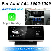 Android 10 Car Gps Radio Stereo Nav + Wireless Carplay For Audi A6 A6l 2005-2008