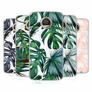 Nature Magick Tropical Palm Leaves On Marble Soft Gel Case For Motorola Phones
