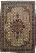 One Of A Kind Vintage Signed 8and0393x12and0395 Hand-knotted Wool Area Rug Oriental Carpet