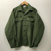 Og107 Fatigue Shirt, Size 16 1/2 X 36 1960's-1970's Us Army M-71
