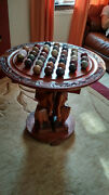 Marble Solitaire Vintage Wood Game Table Jeuxandnbsp