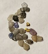 Large Diamonds, Multi Color Sapphires And Gold Nugget Alaskan Lot. Jewelry Quality