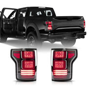 Full Led Red Clear Taillight Set Of 2 Lh And Rh Rear For 17-20 Ford F-150 Raptor