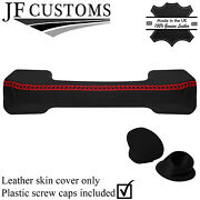 Red Lux-stitch Leather Dash Handle + Screw Caps For Land Rover Defender 07-16