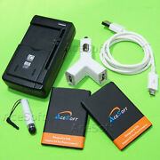 High Quality 2x 3000mah Battery Charger Cable For Lg Optimus Dynamic Ii L39c Usa