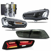 Free Shipping To Pr For Lancer All Black Headlights+smoke Taillights+h7 Bulbs