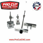 Grizzly G0704 Cnc Mill Conversion Kit W/ Dubl Ball Nuts .0015 Backlash Accuracy