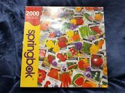 Springbok Packets Of Promise Vintage Garden Seeds 2000 Piece Puzzle New Sealed