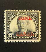 Canal Zone 91c Beautiful Mint Light Hinged Issue Gd Z70