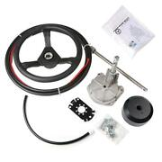 Boat Rotary Steering System Outboard Kit 14 Feet Marine With 13 Wheel Us Stock