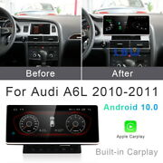 Android 10.0 Car Gps Radio Video Navi Wireless Carplay For Audi A6 A6l 2010-2012