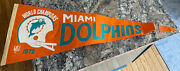 1972 Miami Dolphins World Championship Pennant Dated/offical Nfl 30 17-0 Season