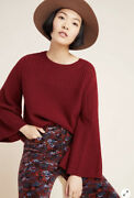 Nwt Anthropologie Pine Cashmere Brianna Bell-sleeved Sweater Size Xs
