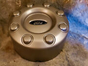 1 Oem Ford 8 Lug Dually Rear Tall Dog Dish Center Cap Silver Painted