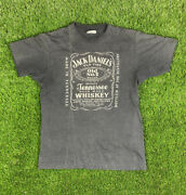 Vintage 80s Jack Daniels T Shirt Small Thin Soft 50/50 Perfectly Worn Trashed