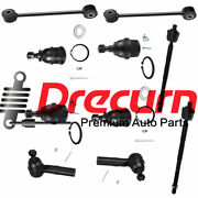 10pc Front Sway Bar Link Tie Rod Ball Joint Set For Grand Cherokee Commander