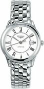 Authentic Longines Flagship White Dial Menand039s Watch L47744216 On Sale