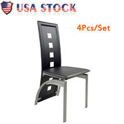4pcs/set High Grade Dining Chair Pvc Leather Ergonomic Curved Back Dining Chair