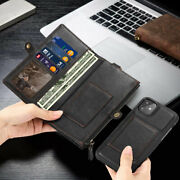 Case For Iphone 11 Xr X Zip Coin Purse Card Slot Flip Leather Wallet Phone Cover