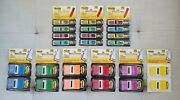New Post-it 1 X 1.7 Page Flags + Sign Here Arrow Flags Lot Assorted Colors