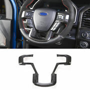 Real Carbon Fiber Steering Wheel Frame Cover Trim For Ford F150 F-150 2015-2020