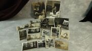 17 Bandw Antique Photos Toys Doll Guns Tricycles Carriages Planes Cars Kiddie Cart