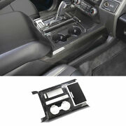 Real Carbon Fiber Gear Box Shift And Cup Holder Panel Cover For Ford F-150 15-2020