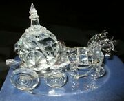 Cinderella Crystal Horse Drawn Carriage W/ Protective Plastic Case