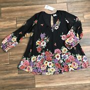Nwt Show Me Your Mumu Long Sleeve Floral Babydoll Tunic Size Xl
