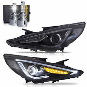 Free Shipping To Pr For Sonata 11-14 Gls Limited Se Gl Demon Headlights+d2s Bulb