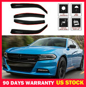 4pcs In-channel Window Visor Vent Sun Shade Rain Guard Fit 06-10 Dodge Charger