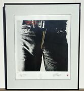 Andy Warhol Limited Edition Rolling Stones Sticky Fingers Vintage Lithograph