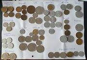Lot Of 85 Coins From 14 Europe Countries 1884-2017 Germany. Uk France Spain