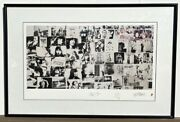 Rolling Stones Exile On Main Street Signed Lithograph