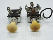 2 Pull / Push Switches For Lights Or On / Off Accessory - Hot Rod / Rat Rod