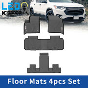 Floor Mats Liner For 2018-2022 Chevrolet Traverse All Weather Front Rear 4pc Set